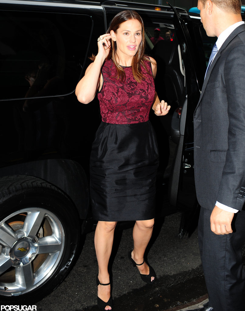 Jennifer Garner stepped out of her car at Good Morning America.