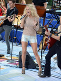Carrie Underwood took the stage at Rockefeller Plaza