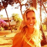 Bar Refaeli flashed a big smile in the sunshine. Source: Instagram user barrefaeli