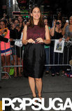 Jennifer Garner posed outside of Good Morning America.