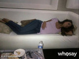 Eva Longoria caught some Z's on the set. Source: Eva Longoria on WhoSay