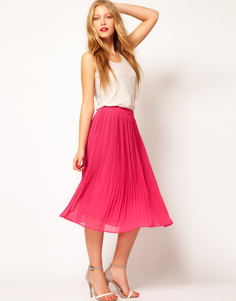 Pleated skirts aren't going anywhere this season. ASOS Skirt With Soft Pleats ($48)