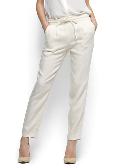 You may think that white is strictly for Summer, but these pants hit Winter white right on the head. Mango Loose-Fit Trousers ($40, originally $55)