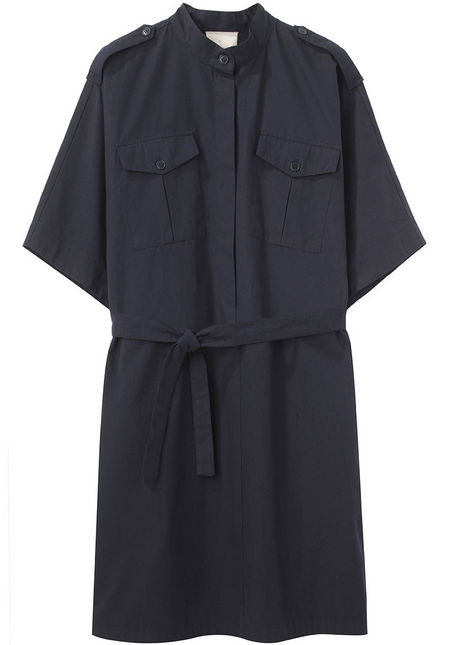 This easy shirtdress has already done most of the work for you; between the belt and epaulets, all you need to do is add a great pair of shoes. Boy by Band of Outsiders Belted Dress ($310)