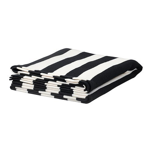 High-contrast stripes and an unbeatable price make this Eivor black-and-white throw ($20) our bargain pick for the season.