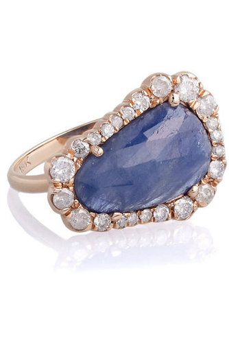 Kimberly McDonald | 18-karat rose gold, diamond and sapphire ring | NET-A-PORTER.COM