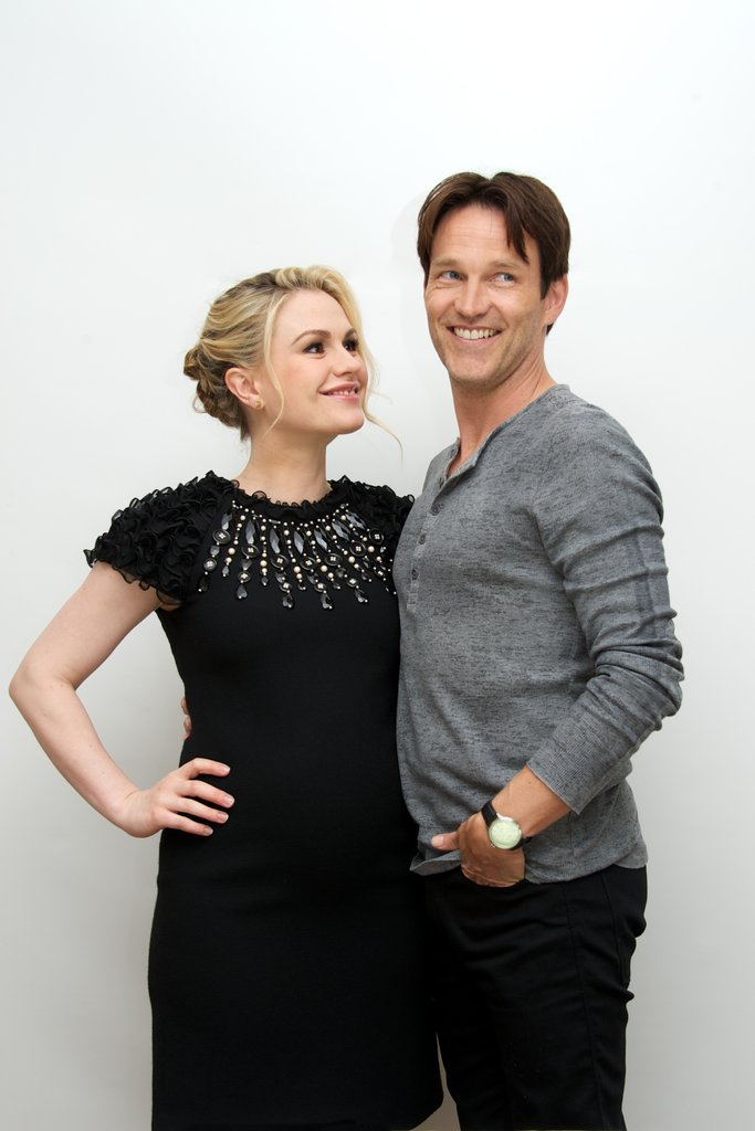 Anna Paquin gazed at her husband, Stephen Moyer, during a June 2012 press event in Beverly Hills.