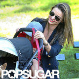 Miranda Kerr Plays at a Park With Flynn and Frankie