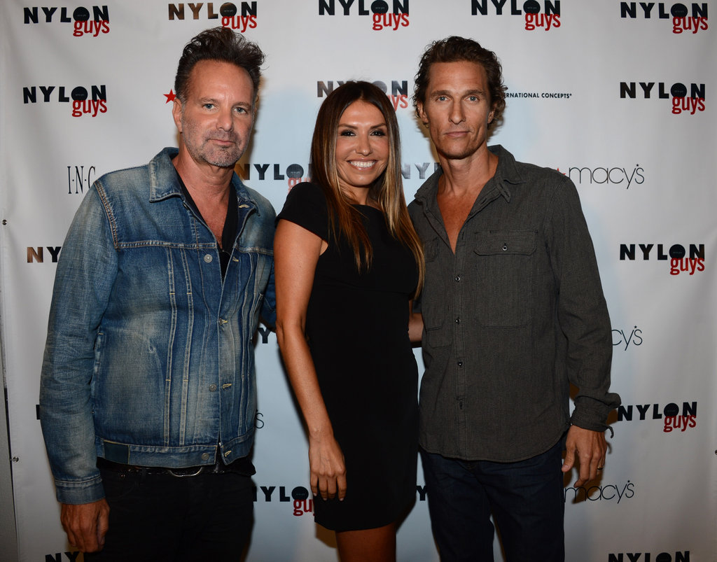 Matthew McConaughey, Marvin Scott Jarrett, and Jaclynn B. Jarrett smiled for a picture.