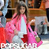 Suri Cruise was decked out in pink.