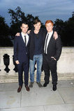 Tom Sturridge, Sam Riley, Danny Morgan looked dapper for the On The Road premiere in London.