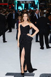 Kate Beckinsale looked beautiful in a strapless black dress and pumps.