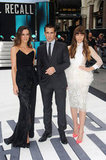 Costars Kate Beckinsale, Colin Farrell and Jessica Biel attended the UK premiere of Total Recall in London.