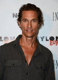 Matthew McConaughey hosted the party for the Nylon Guys and Macy's Inc. September issue in California.
