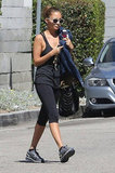Nicole Richie headed to her car following a workout.