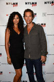 Matthew McConaughey and Camila Alves posed for a picture.