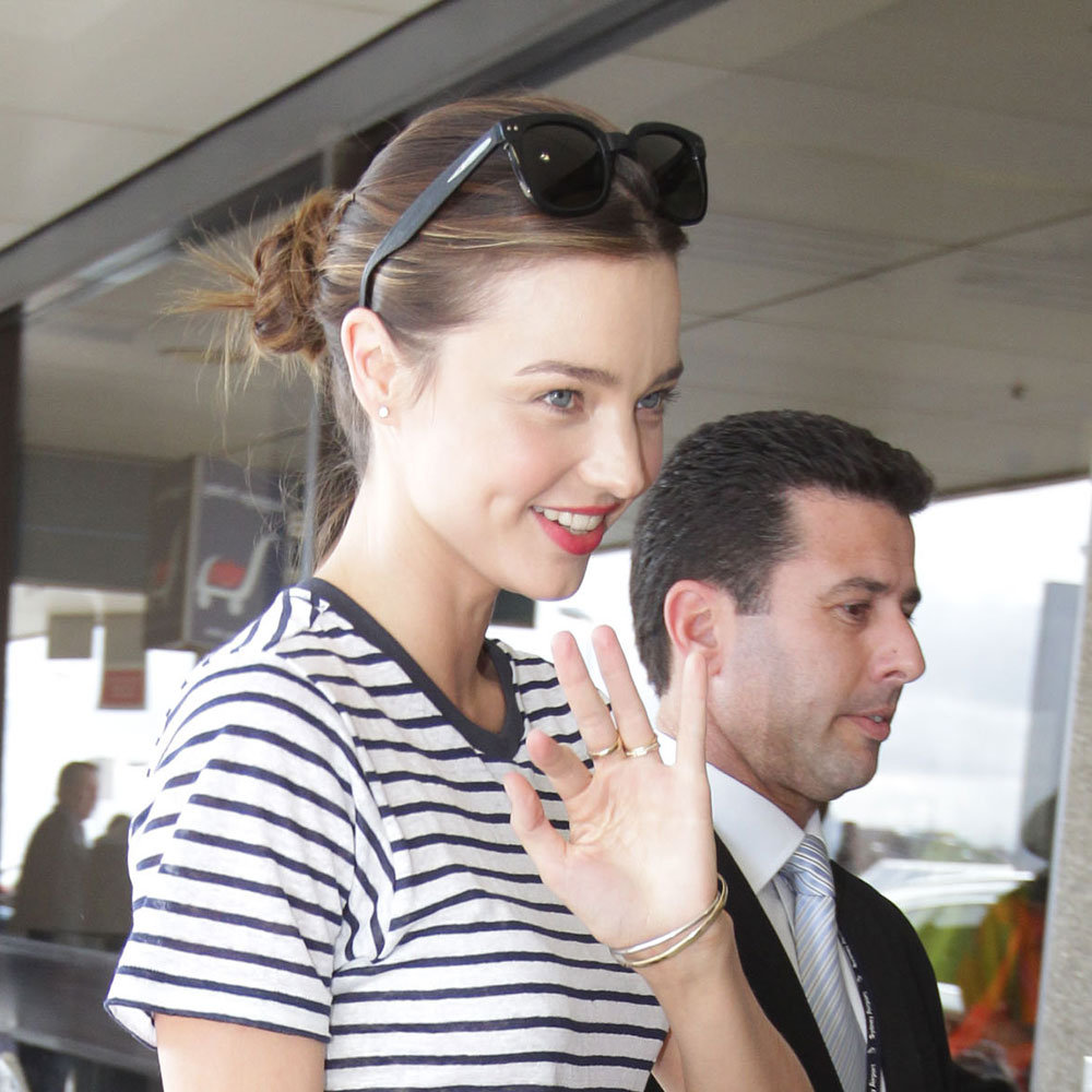Miranda rocked her signature bright lip at the airport last year, proving she was onto the trend well before anyone else.