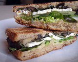 Warm Eggplant Sandwich With Mint, Feta, and Hummus
