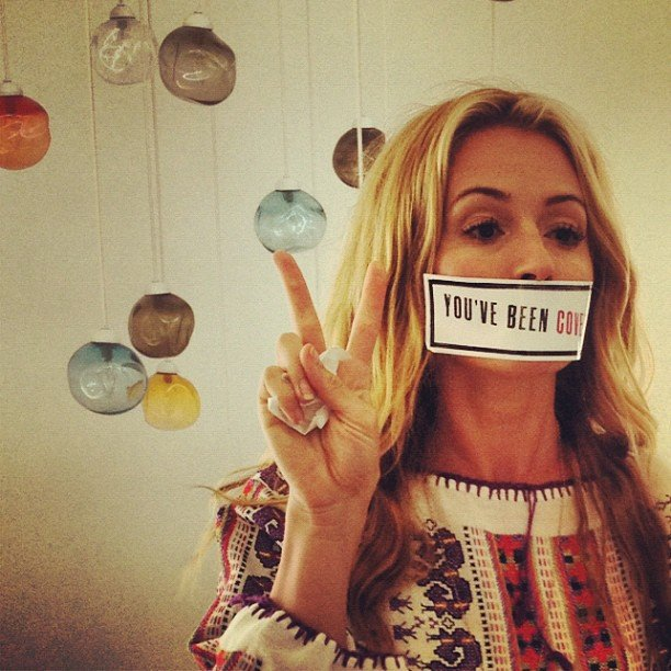 Cat Deeley shared a picture of herself from a photo shoot.  Source: Instagram user catdeeley