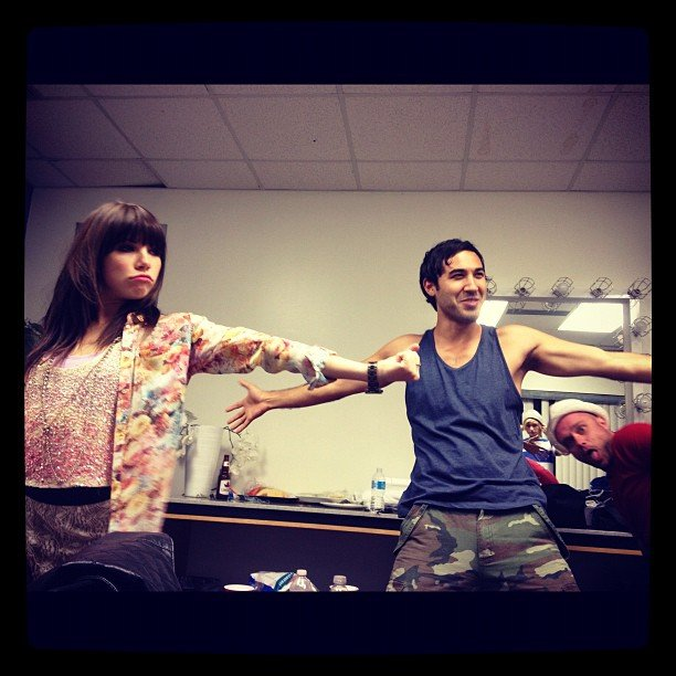 Carly Rae Jepsen shared this snap from a rehearsal before a show.  Source: Instagram user carlyraejepsen