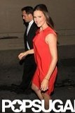 Jennifer Garner wore red to Jimmy Kimmel Live!