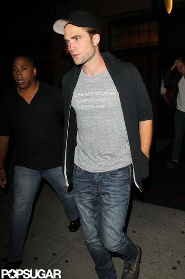 Robert Pattinson went out in the East Village in NYC.
