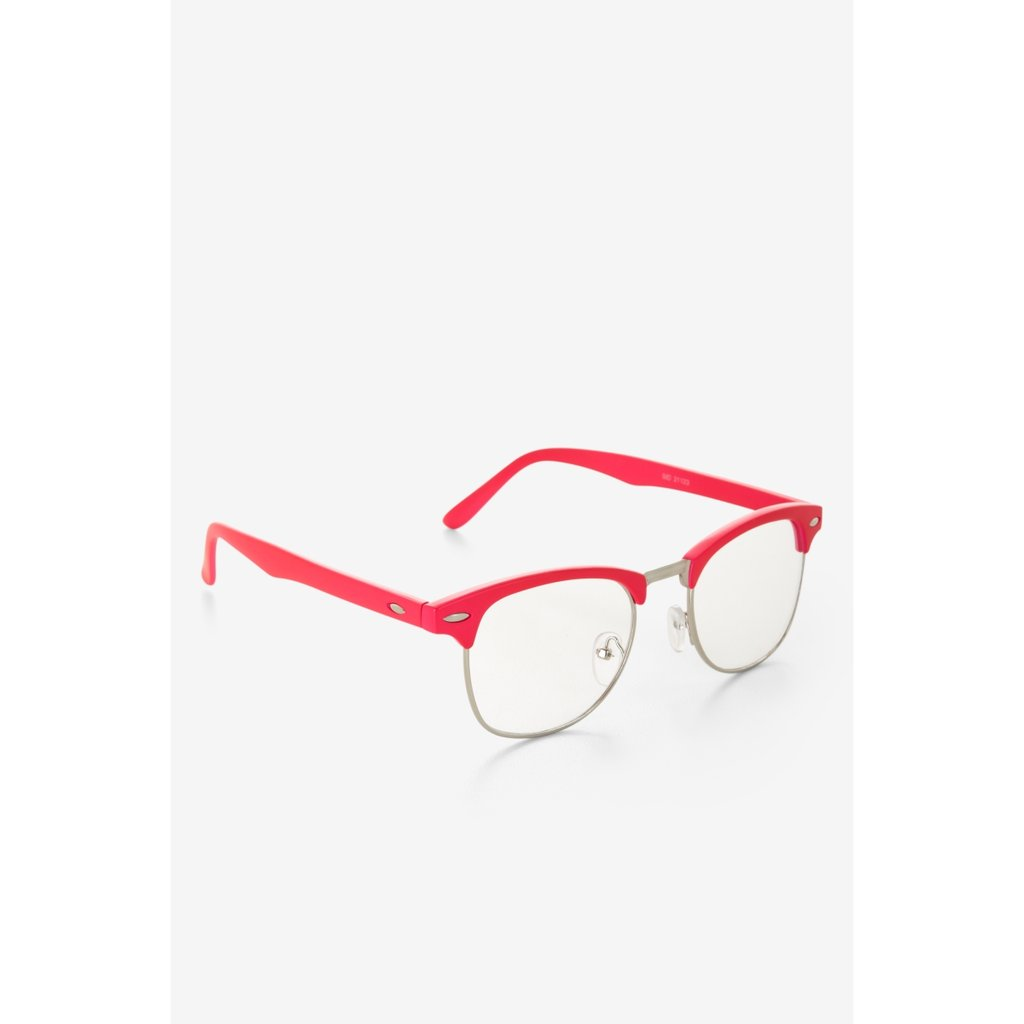 For a pop of color, we suggest these pretty pink frames. The retro-inspired feel is decidedly '60s chic. Bcbgeneration Pink-Rim Clear Glasses ($20)