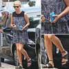 Michelle Williams in Black Gladiator Sandals