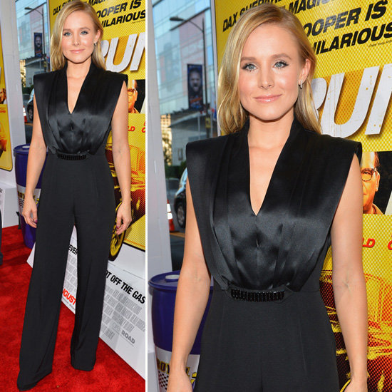 Here's one more reason not to be on the fence about the jumpsuit trend: Kristen Bell's slick ensemble at the LA premiere of Hit & Run.