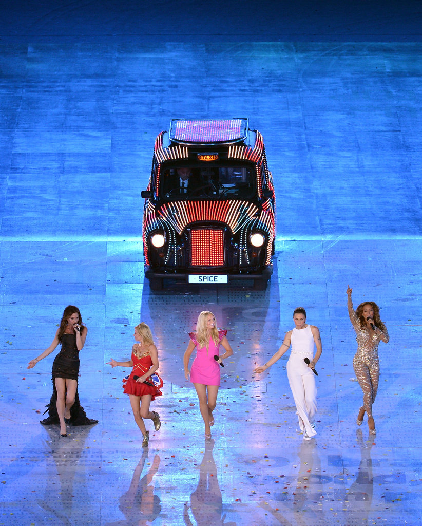 The Spice Girls — from left, Posh, Ginger, Baby, Sporty and Scary — staged a highly-anticipated comeback at the 2012 London Olympics Closing Ceremony on August 12 . . .