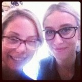 Ali and Alison: matching names, matching blazers, matching hair... and almost-matching glasses.
