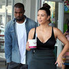 Kim Kardashian and Kanye West Pick Up Frozen Yoghurt