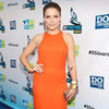 Sophia Bush Wearing Orange Maxi Dress at Do Something Awards