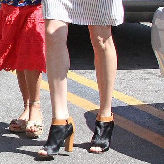 Michelle Williams Peep Toe Booties