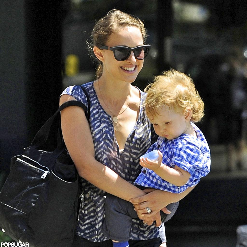 Natalie Portman flashed a smile.