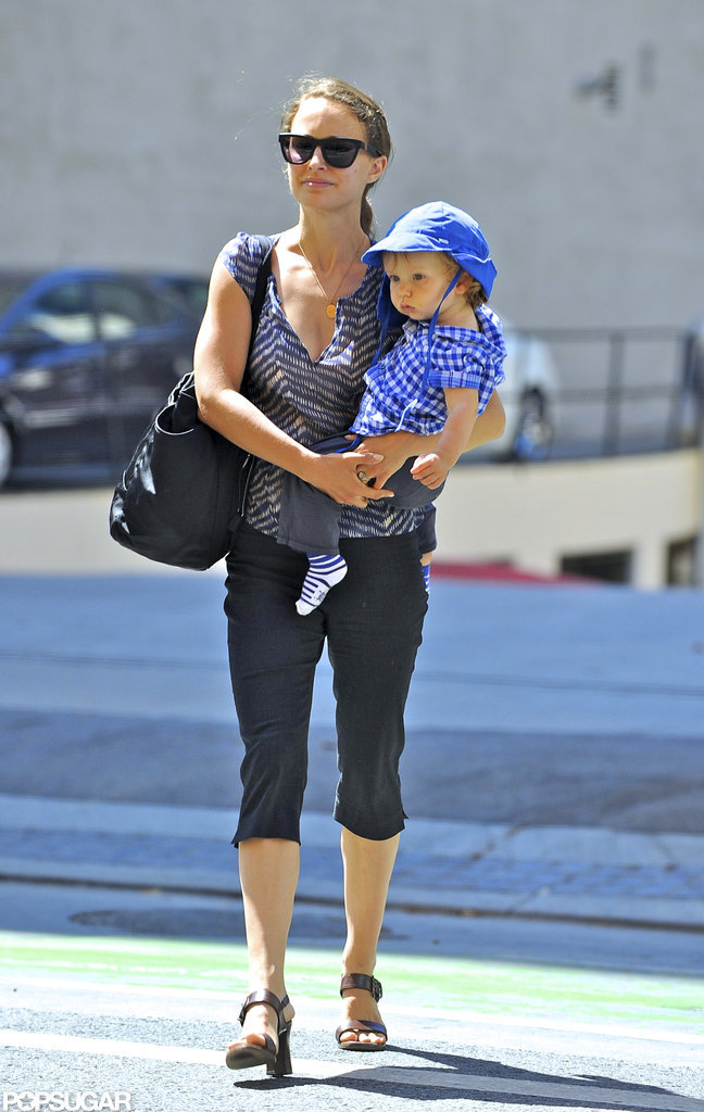 Natalie Portman and baby Aleph Portman grabbed lunch at Akasha in LA.