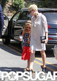 Matilda Ledger held mom Michelle Williams's hand in LA.