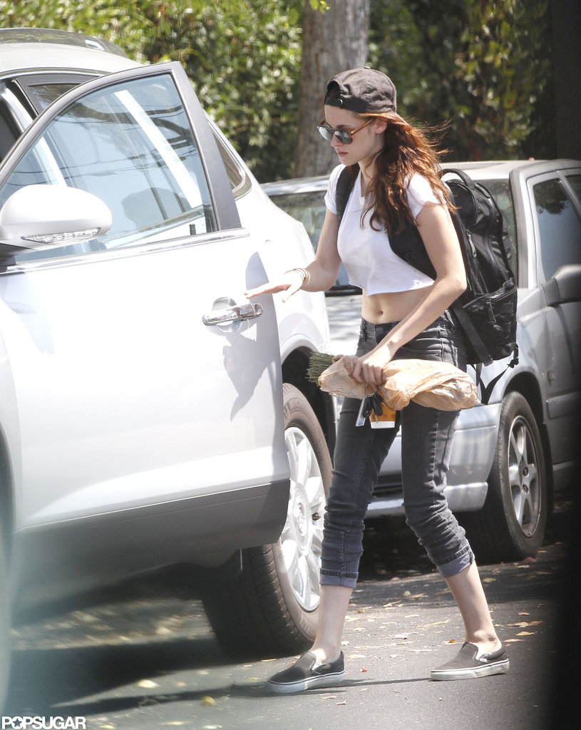 Kristen Stewart got into her car.