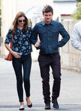 Miranda Kerr and Orlando Bloom were out and about in Sydney together.