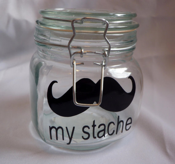 My Stache Mustache Jar Decal ($5)