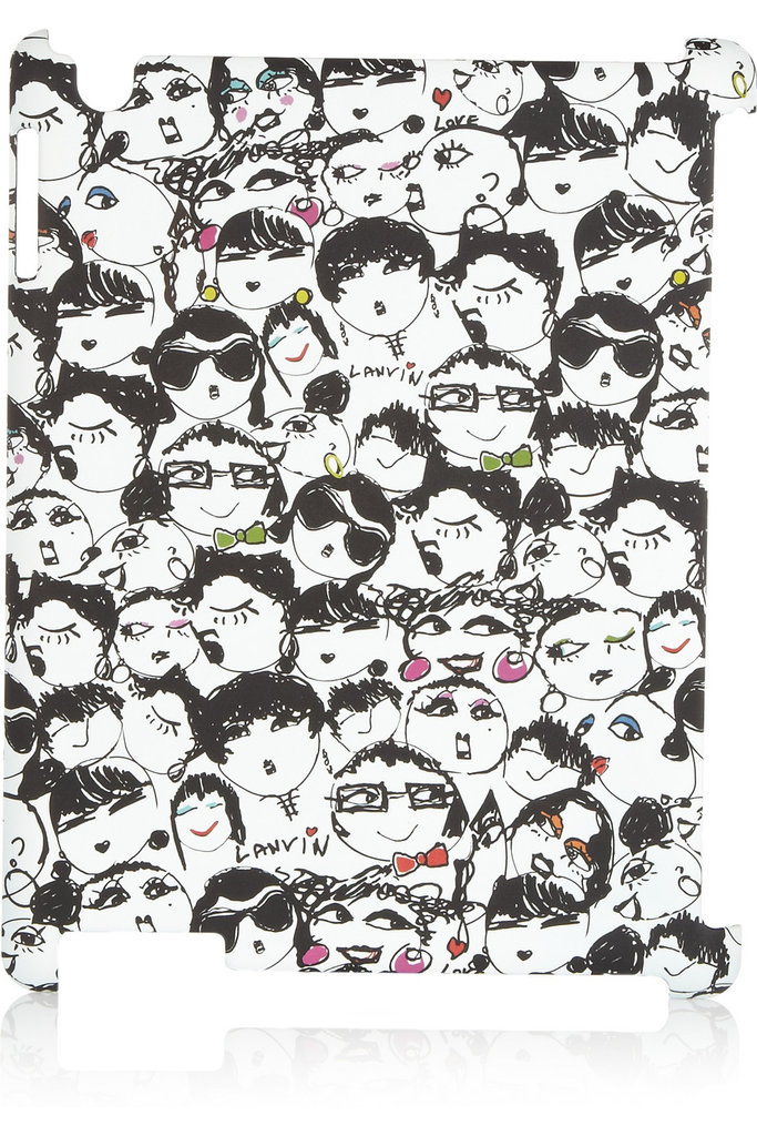 A quirky tech take on Lanvin's Alber Elbaz's whimsical drawings — we wouldn't mind seeing these sketches every time we checked our email. Lanvin Face Print iPad Holder ($140)