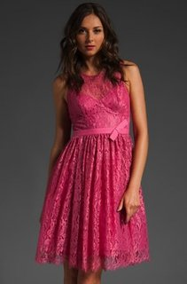 Tracy Reese Pink Lace Dress