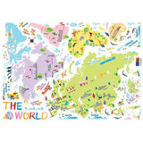 Colorful World Map Decals ($22)