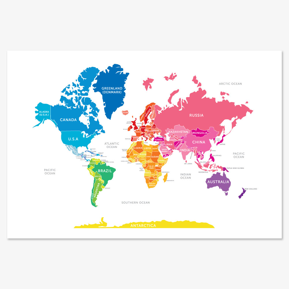 Bright World Map 30 5 Really Cool World Maps to Show Kids the World PO