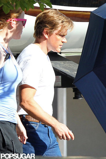 Matt Damon was on the set of Behind the Candelabra.