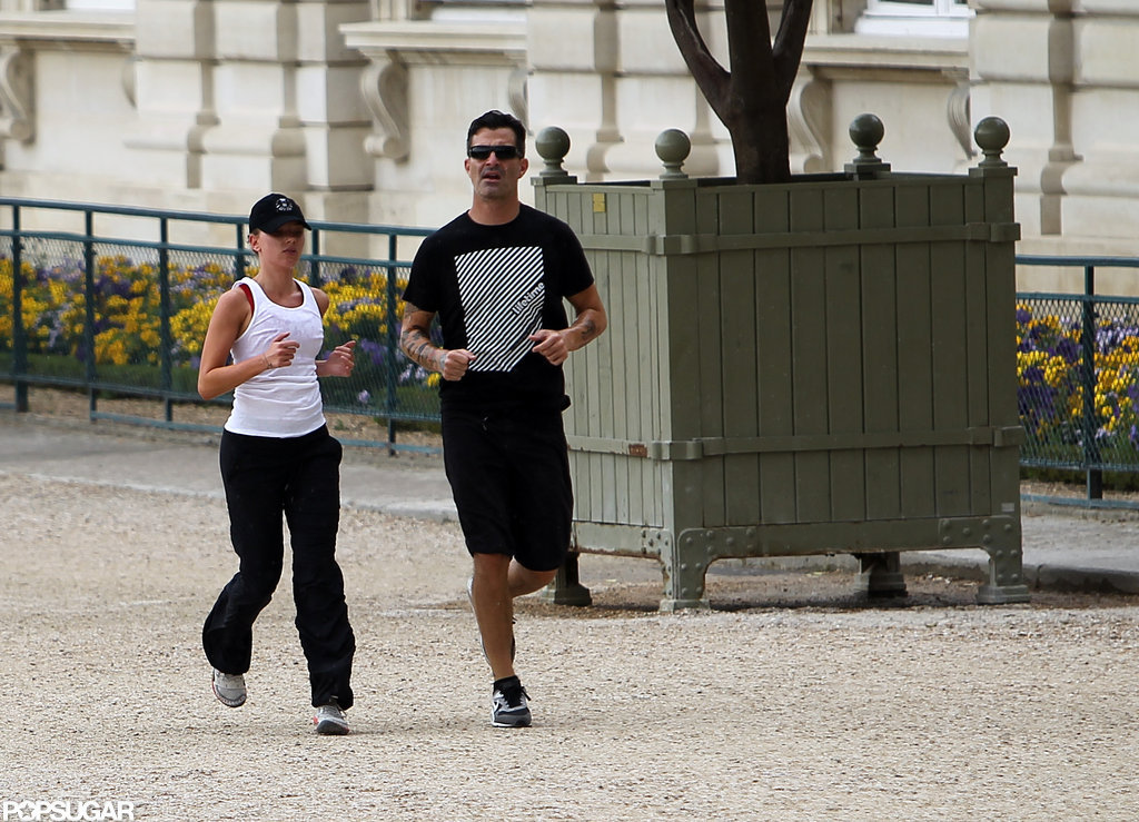 Scarlett Johansson ran in Paris with Nate Naylor.