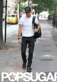 Justin Theroux Cracks a Smile on the Streets of NYC