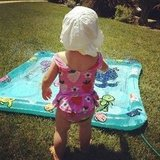 Pink played photographer while daughter Willow Hart went for a dip in the baby pool. Source: Instagram user pink