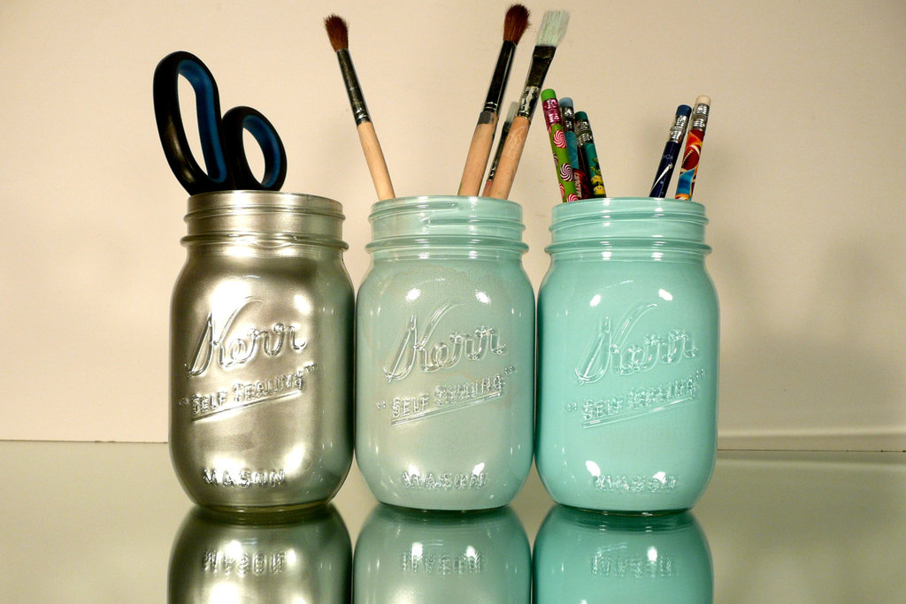 Mason Jar Pen Holders
