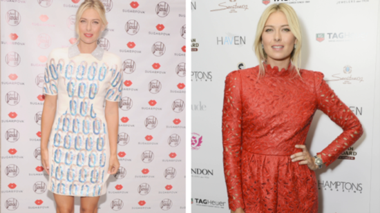 See Maria Sharapova Sizzle in a Little Red Dress in NYC!